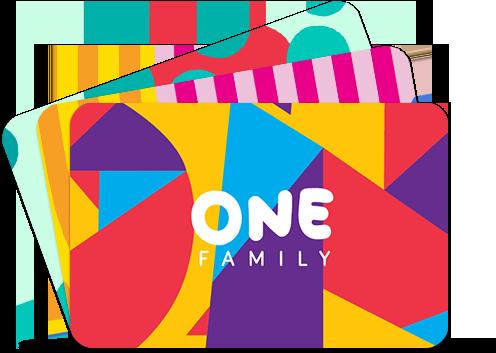 One Family lojalumo kortelė